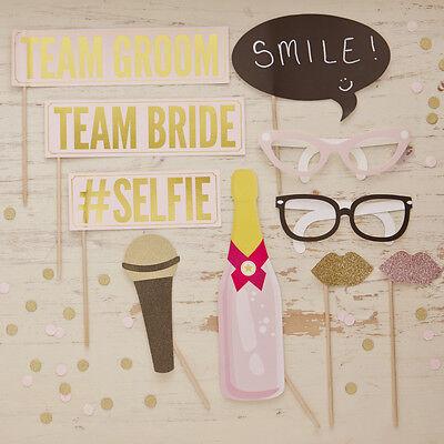 Hochzeit Photo Booth Set 10 tlg. 'Pastell Party' für lustige Hochzeitsfotos
