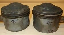 1958-ONLY Matchless G12 650cc USED 72mm STD Hepolite #15242 pair BARE pistons-95