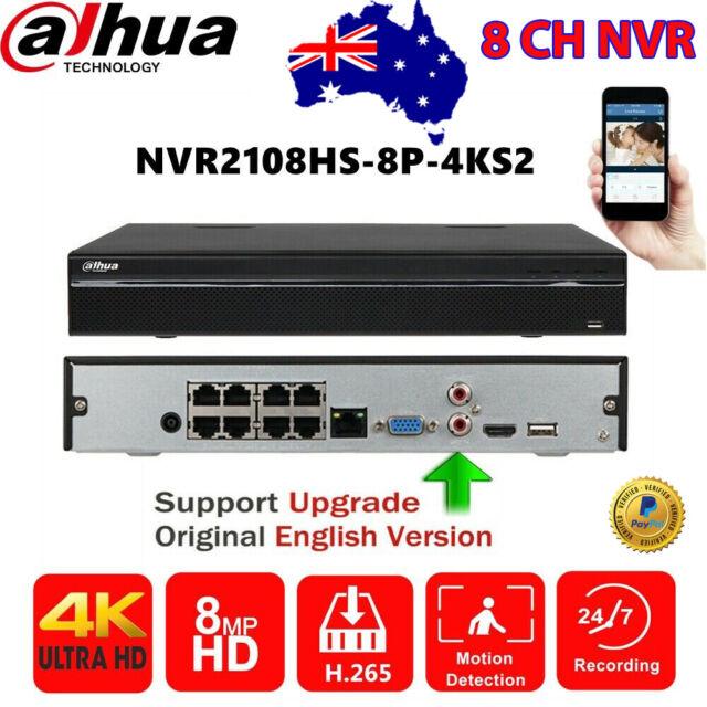 Dahua 8CH NVR 8PoE 4K NVR2108HS-8P-4KS2 H.265 80Mbps Security Network Video Reco