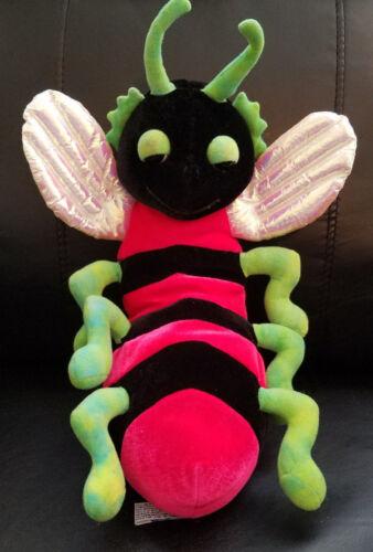 "B.J. Toy Co Red Lightning Bee stuffed/plush bug - 17"""