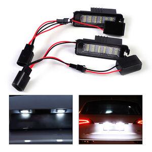 2x-LED-Kennzeichenleuchten-fuer-VW-Golf-Eos-Passat-Beetle-Kennzeichen-beleuchtung