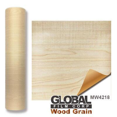 "24/"" x 10 feet Gloss Black Wood GW5001 Wood Grain adhesives Vinyl"