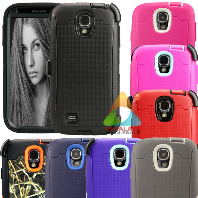 For Samsung Galaxy S4 S 4 Case (Clip fits Otterbox Defender) Screen Protector A
