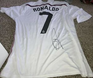 Cristiano Ronaldo Signed Real Madrid Jersey With Proof Ebay