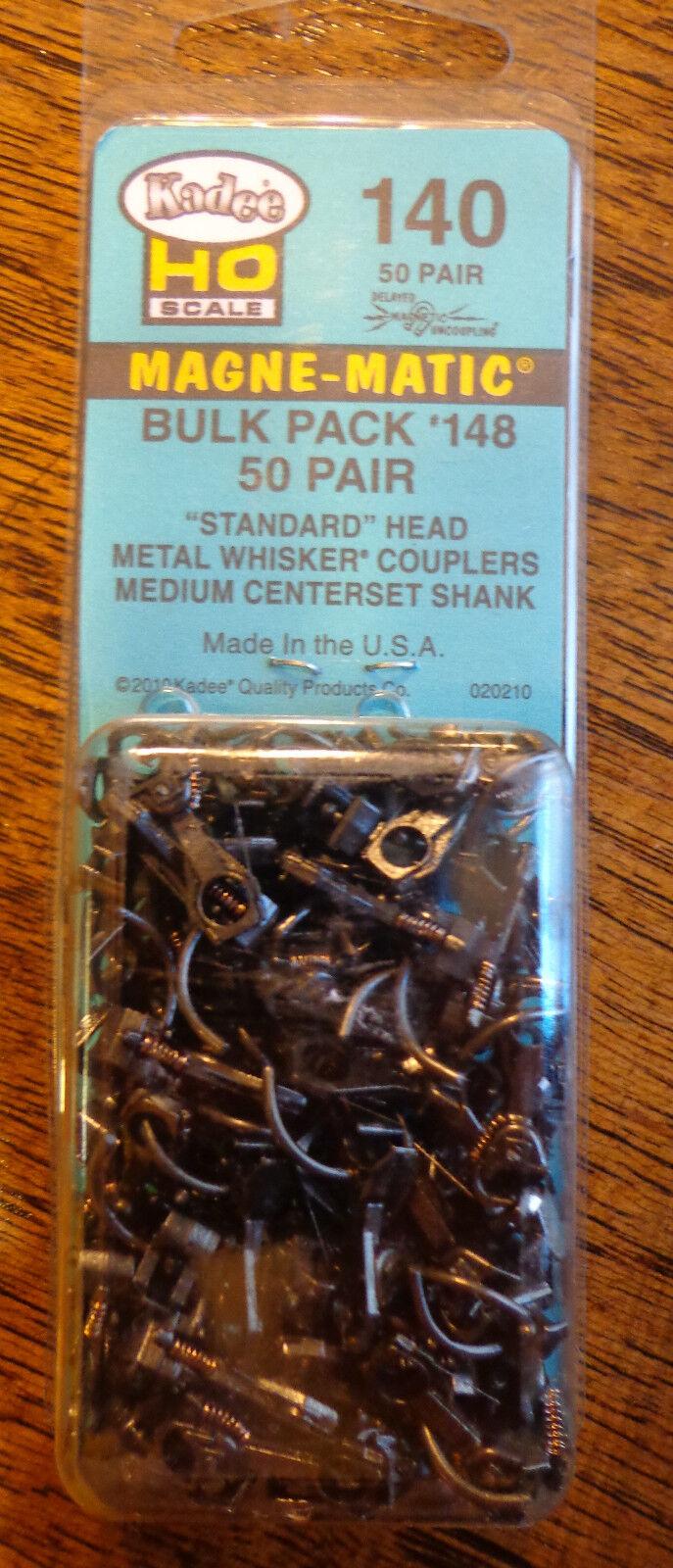 Kadee  140 Whisker Couplers Med Centerset Shank 50Pair in Pkg.