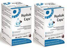 2x Hyabak Kapseln Omega 3 und Omega 60 kapseln für die pflege von vision