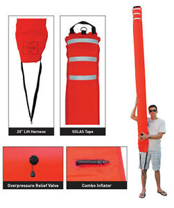 Highland-10-039-Surface-Marker-Buoy-YELLOW-10-long-with-22-circumference
