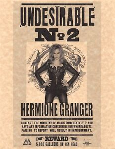 Harry Potter Undesirable Number 2 Hermione Granger Flyer ...