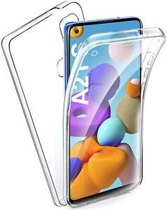 Pour Samsung Galaxy A21s - Coque Gel 360 avant+Arrière Protection INTEGRALE