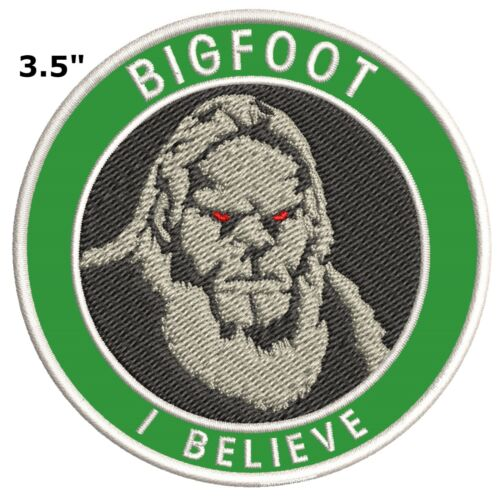 Sasquatch in the Forest Bigfoot Lives Patch Iron on I BELIEVE Sasquatch