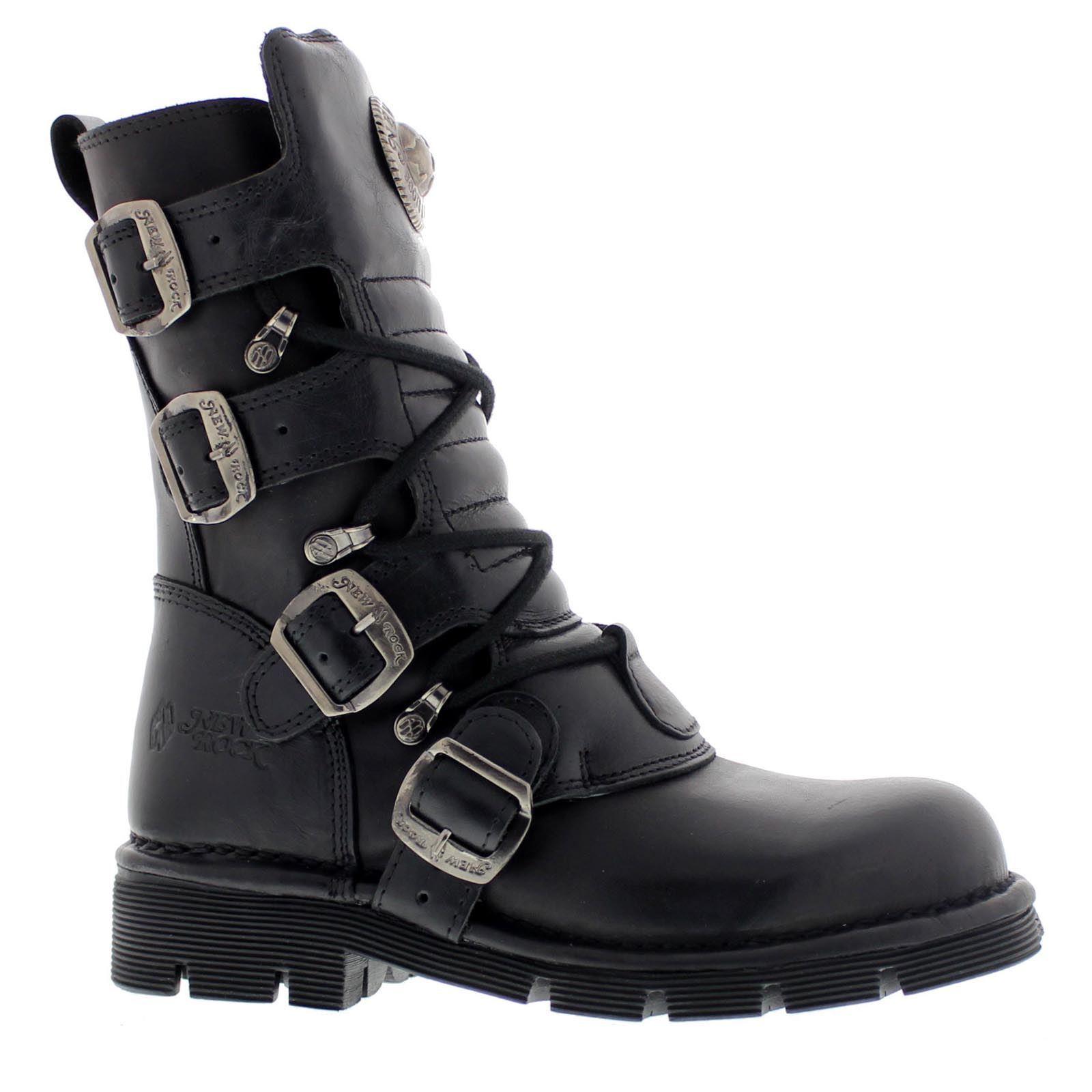 Grandes zapatos con descuento New Rock M 1473-S1 Black Womens - Mens Boots