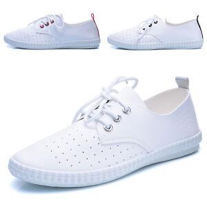 Scarpe-Donna-Sneakers-Stringate-Lacci-Eco-Pelle-Ginnastica-Sportive-Casual-5126