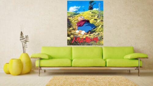 Howl/'s Moving Castle 2004 Retro Movie Poster A0-A1-A2-A3-A4-A5-A6-MAXI 223