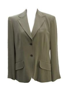 Blazer taglia Jones Carriera da 12 100 Giacca York di Giacca beige di seta donna New gzYqUntw
