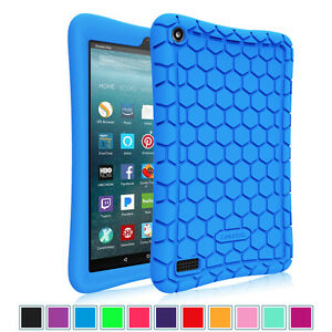 For All New Amazon Fire 7 7th Gen Tablet 2017 Silicone Case Cover Kids Friendly