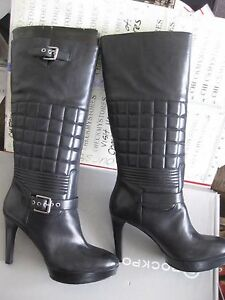 NIB $250 ROCKPORT Womens Janae Quilted Tall Boot TALL BOOTS ... : quilted tall boots - Adamdwight.com