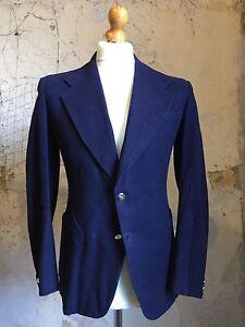 Arc-39-vintage-annees-1930-deux-Bouton-SUR-MESURE-MARINE-blazer-taille-38