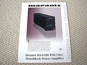 marantz ma 6100 thx ultra power amplifier brochure ebay rh ebay com Marantz CD6004 Marantz SC-7S2
