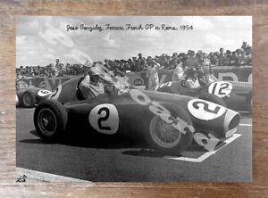 Historic-Jose-Gonzalez-Ferrari-French-GP-1954-Motorsport-Postcard