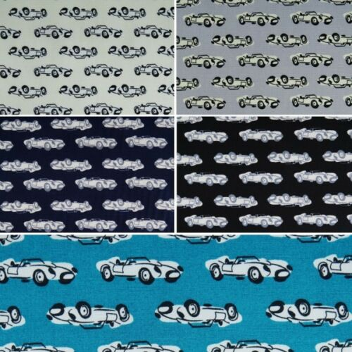 100/% Cotton Poplin Fabric by Fabric Freedom Top Down Vintage Sport Cars 2