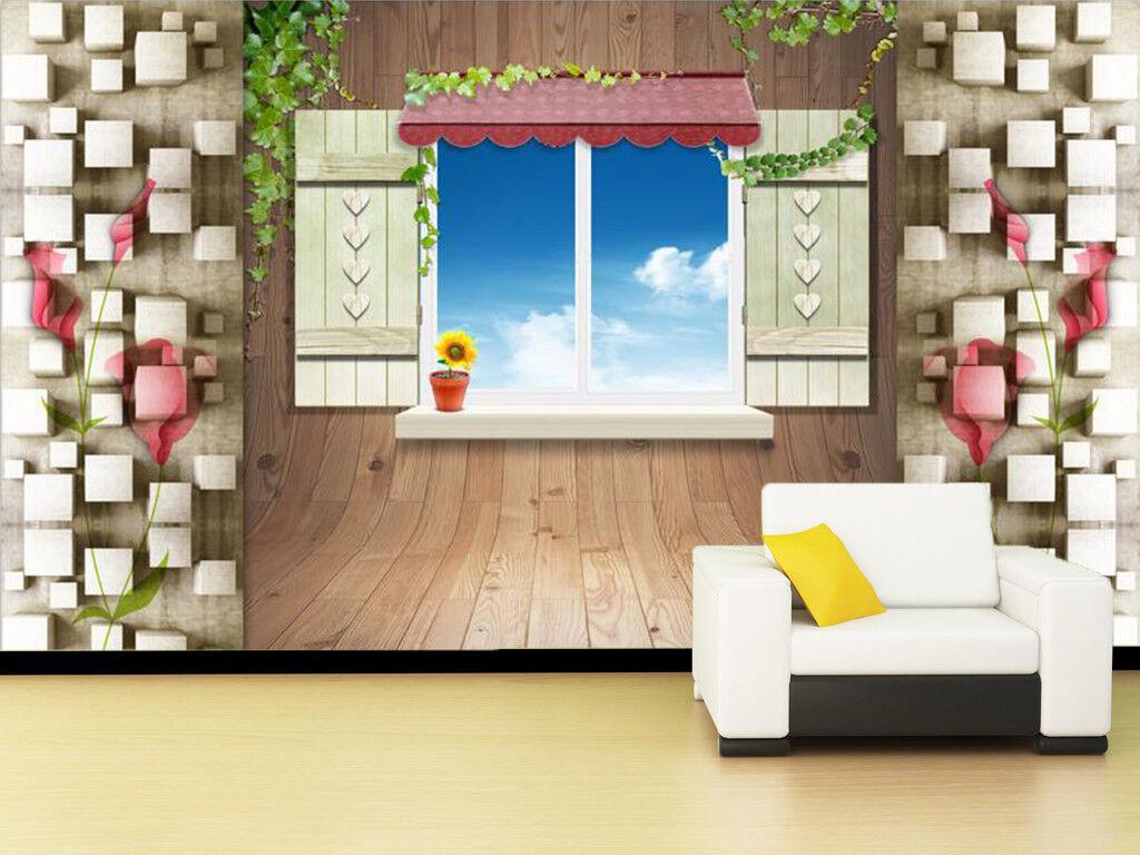 3D Fashion Window 742 Wall Paper Murals Wall Print Wall Wallpaper Mural AU Kyra