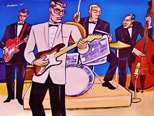 BUDDY HOLLY PRINT poster greatest hits fender guitar the crickets concert cd amp