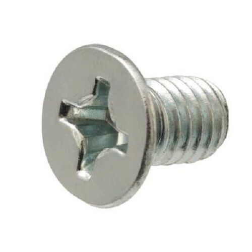METRIC Made in USA 20 pc M4 X 20 PHILLIPS FLAT HEAD ZINC MACHINE SCREW