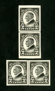 US-Stamps-611-XF-Vertical-amp-horizontal-line-pairs-OG-NH