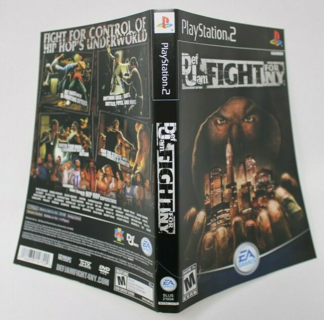 DEF JAM FIGHT FOR NY - PLAYSTATION 2 - CASE & COVER ART ONLY (NO MANUAL OR GAME)