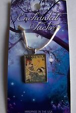 Art Deco Jersey Girl Toasting with Wine Pewter Pendant Necklace Handcrafted USA