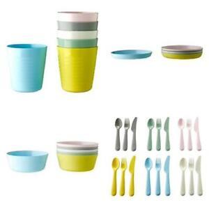 IKEA KALAS ENFANTS ENFANTS en plastique Bols Tasses Assiettes Couverts Set ou Individuel