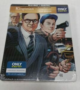 Kingsman-The-Secret-Service-Blu-Ray-Limited-Edition-Collectible-Steelbook-NEW