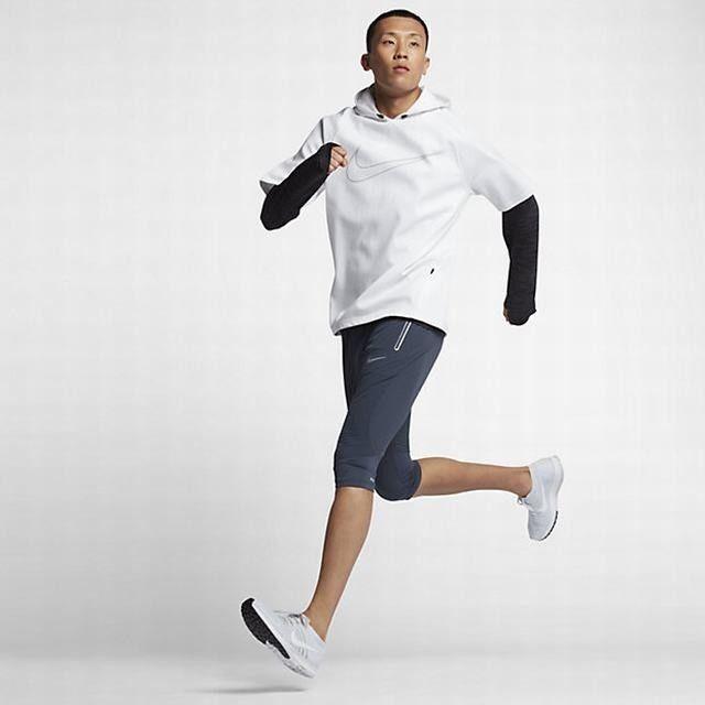 Mens Large L Nike Swift 3//4 Running Pants 872092-471 Thunder Blue//Armory Blue