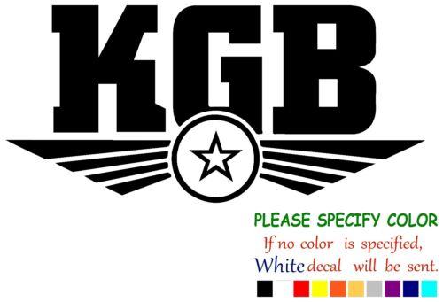 "KGB Soviet Spy Russian Funny Vinyl Decal Sticker Car Window laptop tablet 7/"""