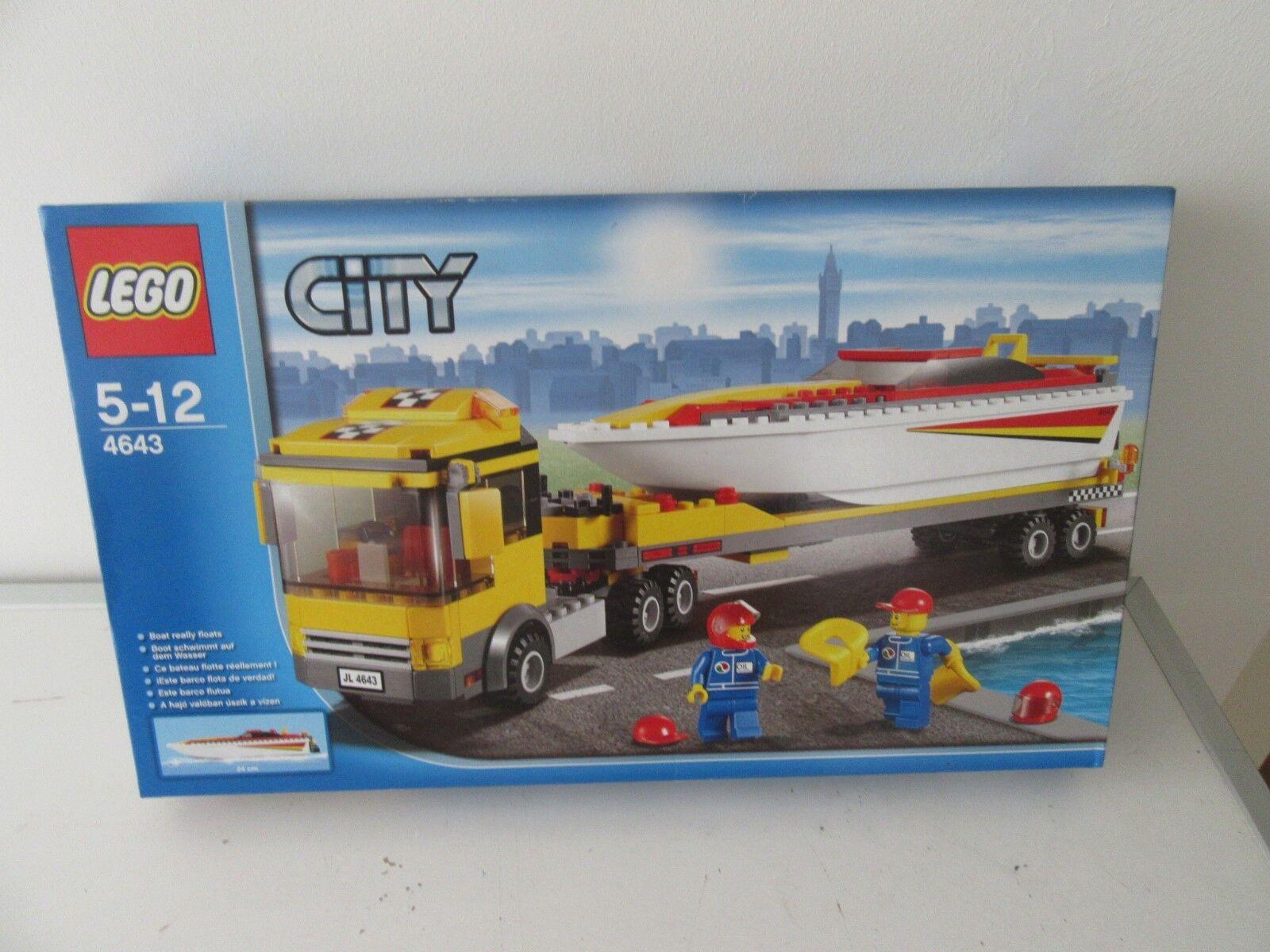 LEGO ® city 4643 Motorbota Transsport