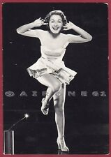 VIRGINIA GIBSON 01 ATTRICE ACTRESS CINEMA MOVIE DANCER SINGER Cartolina v. 1958