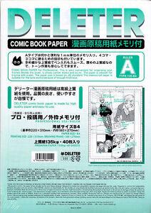 New-DELETER-Manga-Comic-Book-Paper-034-A-034-Size-B4-135-kg-40-Sheets-Japan-Import