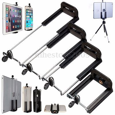 For Cell Phone Tablet Camera Stand 1/4 Clip Tripod Holder Bracket Holder Mount