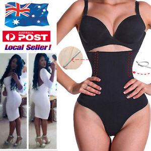 4f5c985f73d8a Women Slim High Waist Trainer Tummy Control Body Shaper Thong Panty ...