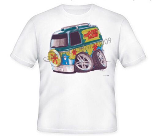 XXXL KIDS SCCOBY DOO THE MYSTERY MACHINE KOOLART HEAVYWEIGHT TSHIRT