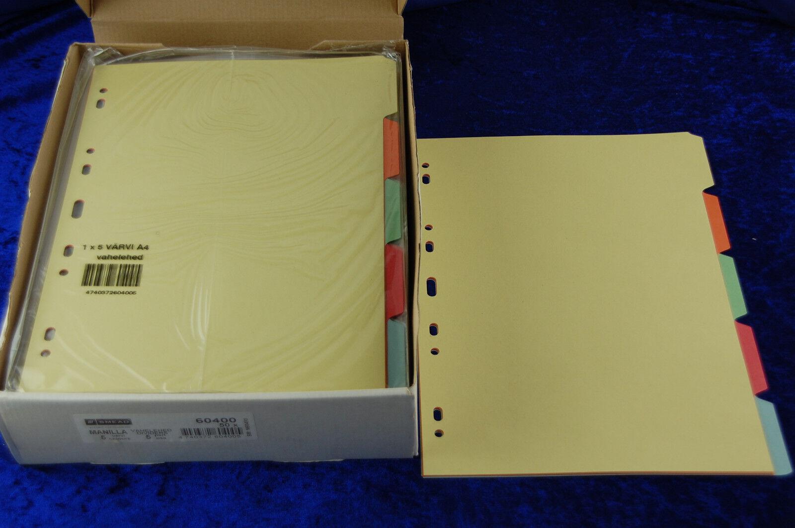 50 St. Ordnerregister Register A4 1-5 5tlg blanko Manila Karton Ordner-Register | Mama kaufte ein bequemes, Baby ist glücklich  | Günstige  | Fein Verarbeitet