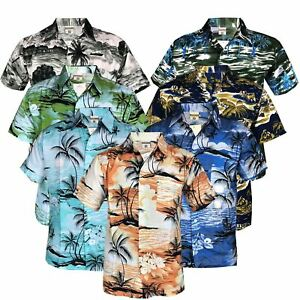 Mens-Hawaiian-Stag-Beach-Hawaii-Aloha-Party-Summer-Holiday-Casual-Fancy-Shirt