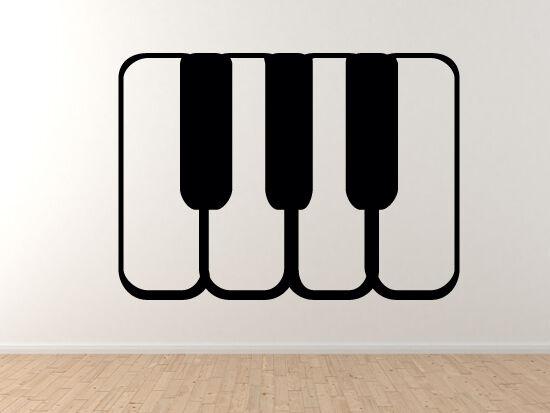 Music Icon - DJ Piano SyntheGrößer Recording Musician Art - Vinyl Wall Decal