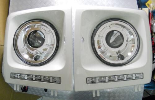 Mercedes W463 G-Class 86~11 WHITE Headlight Frame Day Time Running Light G500//55