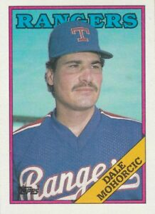 FREE-SHIPPING-MINT-1988-Topps-163-Dale-Mohorcic-Texas-Rangers-Baseball-Card