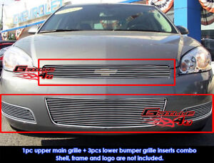 Aluminum Billet Grille Combo For 2006-2013 Chevy Impala //Imapla SS//LT