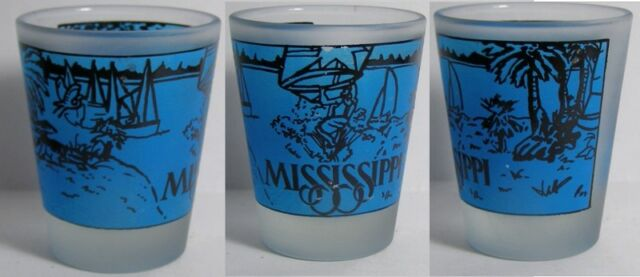 Mississippi Attractions Shot Glass #3598