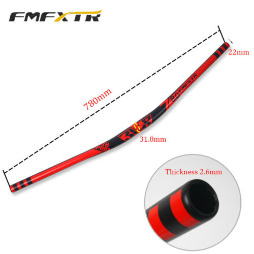 FMFXTR MTB//DH//XC Bike Handlebar 31.8*780mm Aluminum Riser Bar  18mm 10Degree