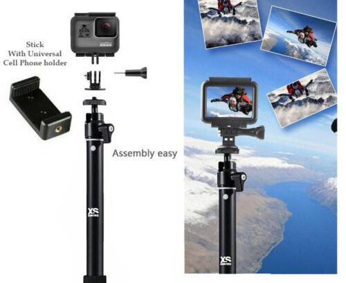 Selfie Stick Adjustable Telescoping Monopod Pole for Gopro Hero 8 7 Hero 6// 5//3+