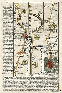 Antique-map-Road-from-London-to-Boston-amp-Lincoln